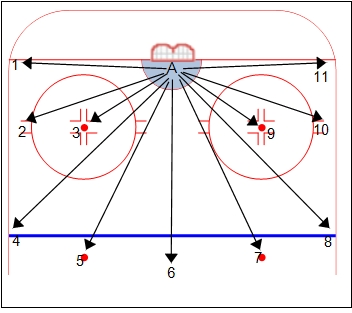 11 Visual Targets for Hockey Goalies